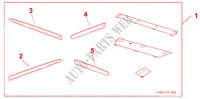 BODY SIDE MOULDING for Honda Cars JAZZ 1.4 ES 5 Doors Intelligent Manual Transmission 2009