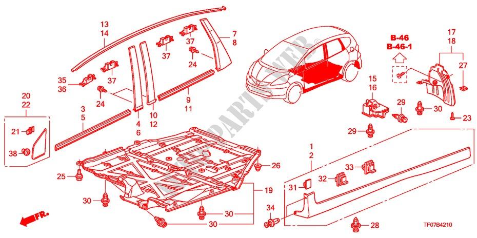 Molding  Side Sill Garnish For Honda Cars Jazz 1 4 Es 5