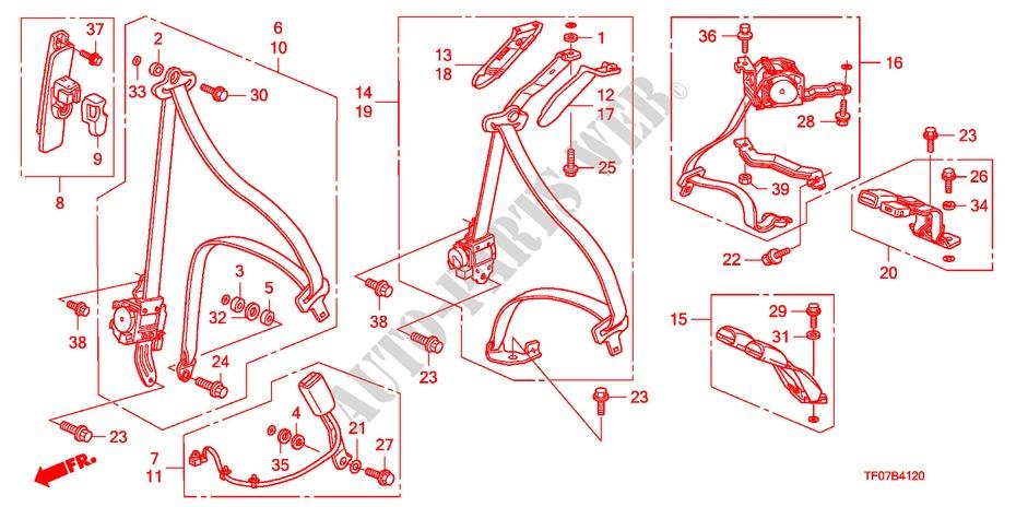 Seatbelts For Honda Cars Jazz 1 4 Es 5 Doors 5 Speed