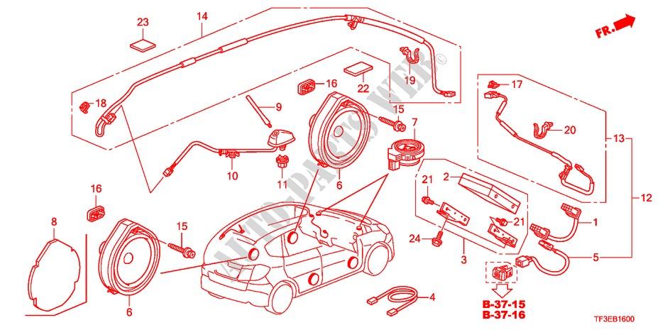 Antenna  Speaker For Honda Cars Jazz 1 2se 5 Doors 5 Speed Manual 2012   Honda Cars