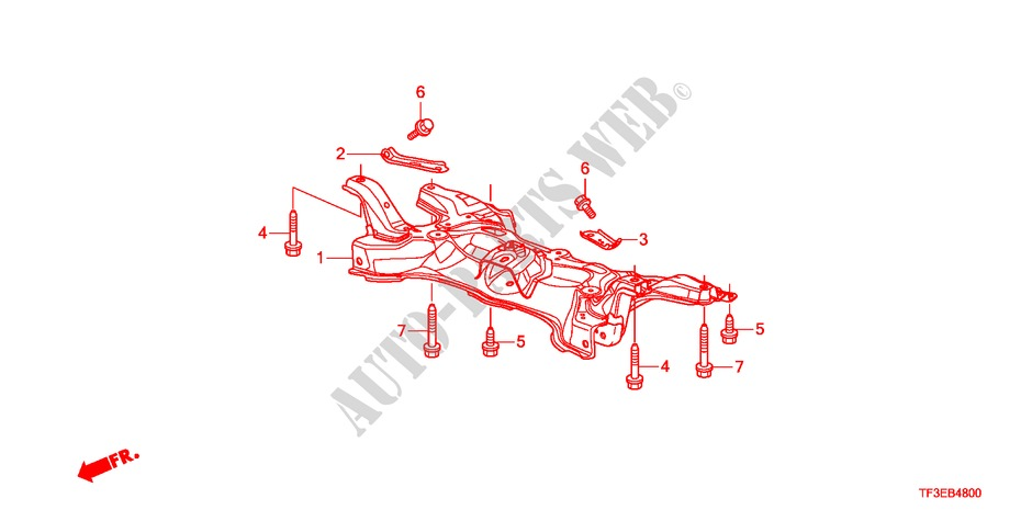 FRONT SUB FRAME for Honda Cars JAZZ 1.4ES 5 Doors 5 speed manual 2012