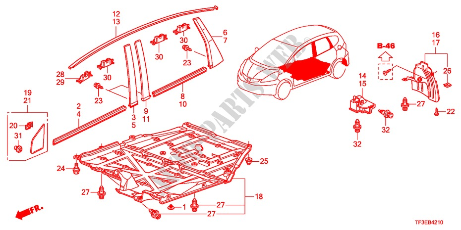 MOLDING/PROTECTOR for Honda Cars JAZZ 1.5LX 5 Doors 5 sd ... on