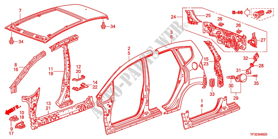 63136-TF0-003 Genuine Honda Pillar Separator