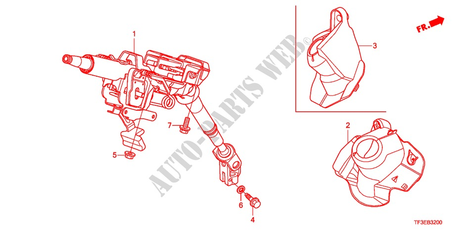 STEERING COLUMN for Honda Cars JAZZ 1.4ES 5 Doors 5 speed manual 2012