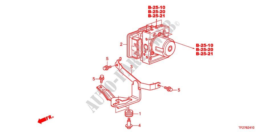 Abs  Vsa Modulator For Honda Cars Jazz Hybrid Ima