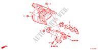 EXHAUST MANIFOLD(DIESEL) for Honda Cars ACCORD 2.2 ES 4 Doors 6 speed manual 2011