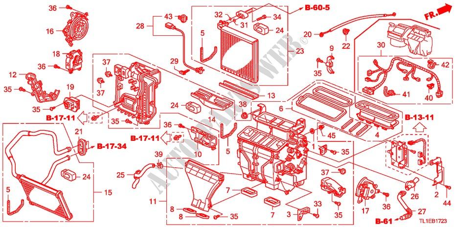 Heater Unit Diesel  Rh  For Honda Cars Accord 2 2 Type S