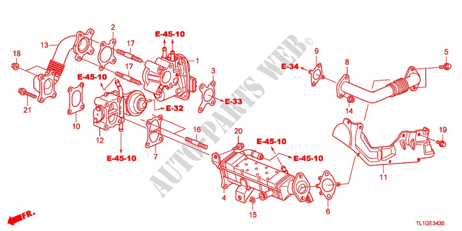 egr valve(diesel) for honda cars accord 2 2 type s h 4 doors 6 speed Honda Electrical Schematic