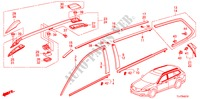 MOLDING/ROOF RAIL for Honda Cars ACCORD TOURER 2.2 EXECUTIVE 5 Doors 6 speed manual 2009