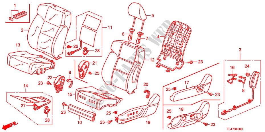 Honda Genuine 82131-T0K-A11ZA Seat Cushion Trim Cover Right Rear
