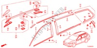 MOLDING/ROOF RAIL for Honda Cars ACCORD TOURER 2.4 TYPE S 5 Doors 5 speed automatic 2012