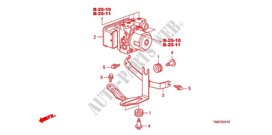 Abs Modulator For Honda Cars City Ex 4 Doors 5 Speed