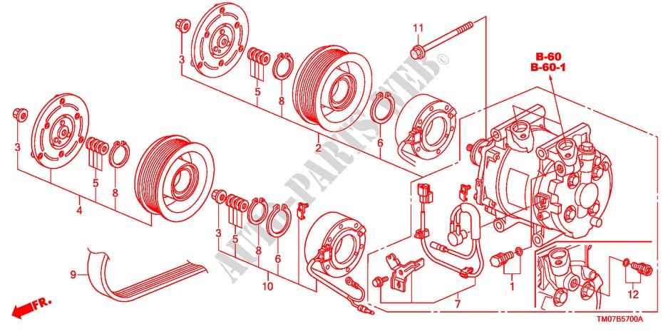 Air Conditioner Compresso R  For Honda Cars City Lx 4