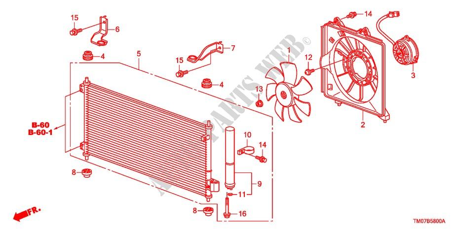 Air Conditioner Condenser   For Honda Cars City Ex 4 Doors
