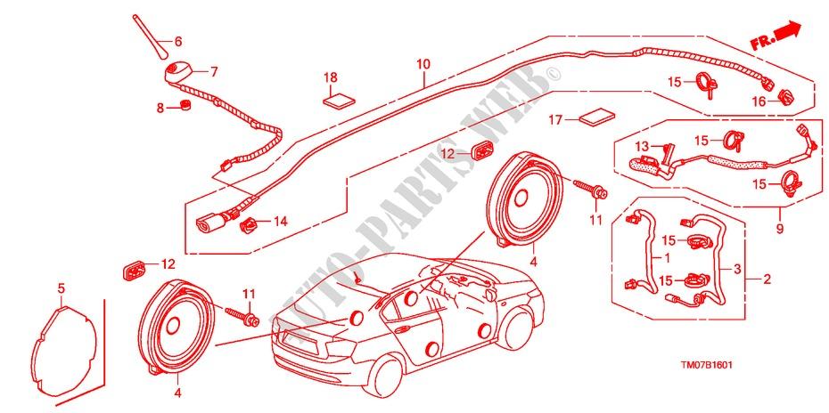 Antenna  Speaker Lh  2  For Honda Cars City Ex 4 Doors 5