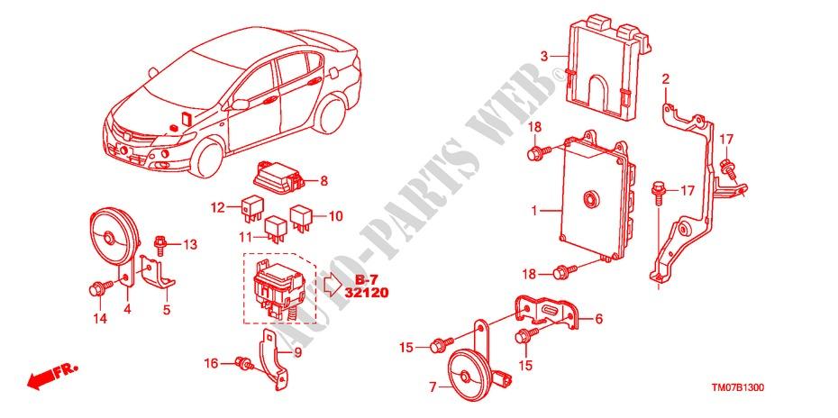 Control Unit Engine Room   Lh  For Honda Cars City Ex 4