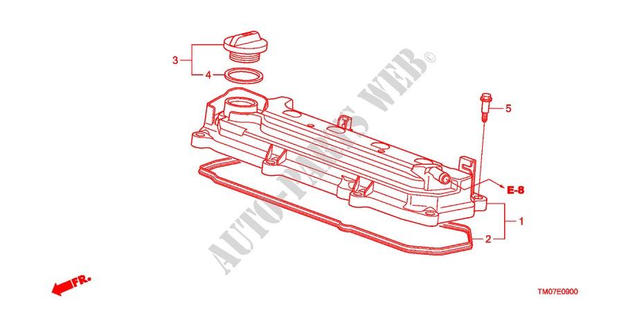 Cylinder Head Cover For Honda Cars City 1 4es 4 Doors 5