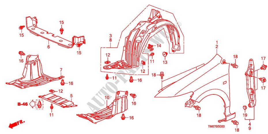 Front Fender Body Parts Ex A 2009 City Honda Cars   Honda Cars