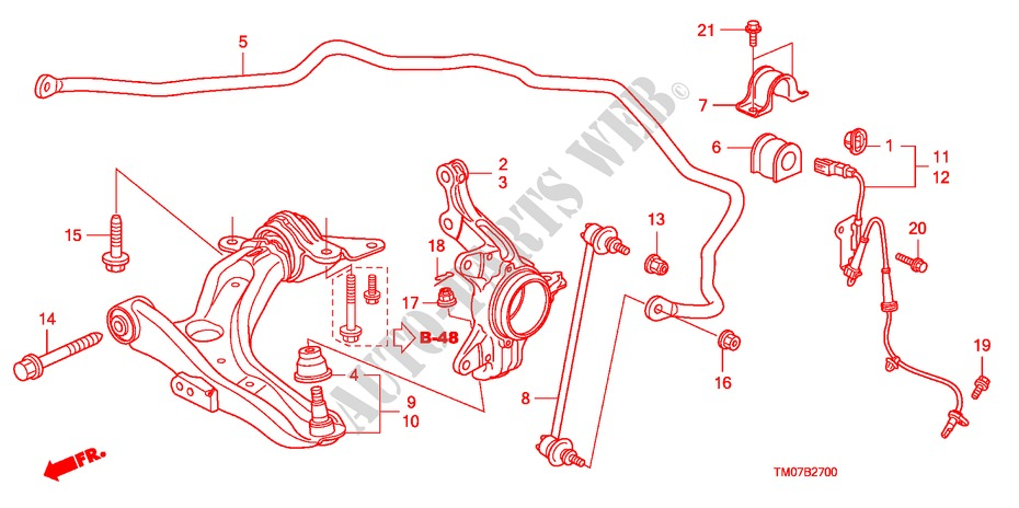 Front Lower Arm For Honda Cars City Ex 4 Doors 5 Speed