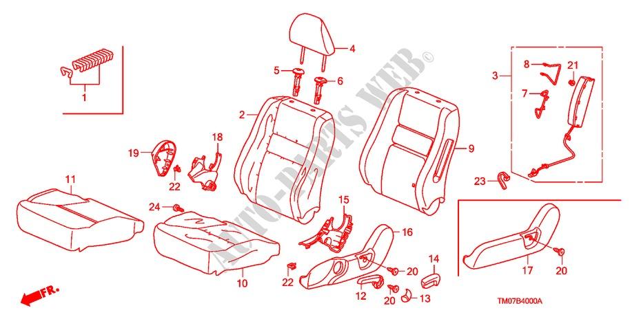 Honda Genuine 81144-TA0-A01ZH Headrest Lock Guide