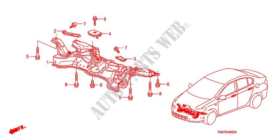 Front Sub Frame For Honda Cars City Lx 4 Doors 5 Speed