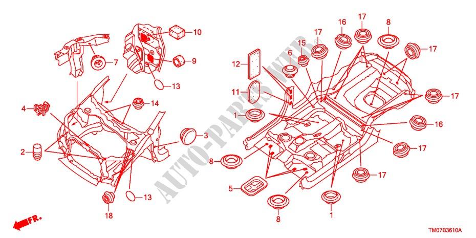 Grommet Front  For Honda Cars City Ex 4 Doors 5 Speed