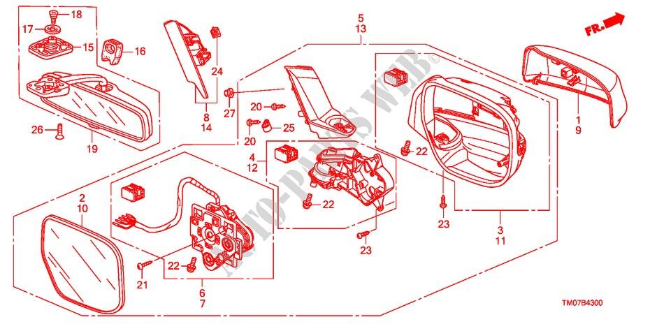 Mirror 1  For Honda Cars City Lx 4 Doors 5 Speed Manual