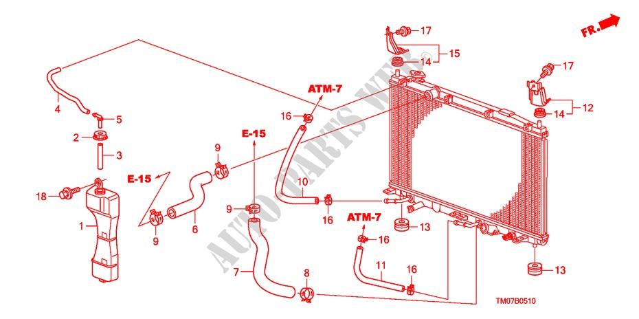 Radiator Hose Reserve Tan K Electrical Equipments Exhaust Heater
