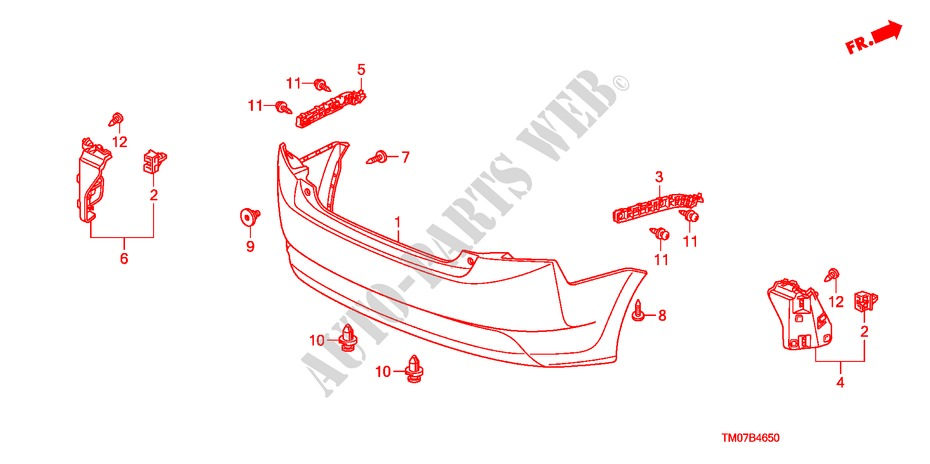 Rear Bumper For Honda Cars City Ex 4 Doors 5 Speed Manual