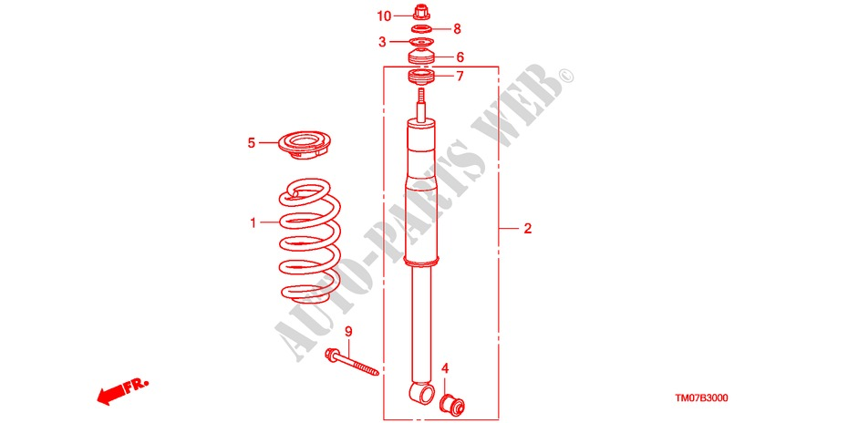 Rear Shock Absorber For Honda Cars City Lx
