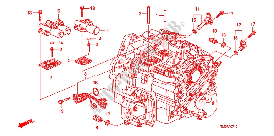 Solenoid For Honda Cars City Ex 4 Doors 5 Speed Automatic