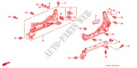 FRONT SEAT COMPONENTS (L.)(1) for Honda Cars CIVIC VTI 3 Doors full automatic 1996