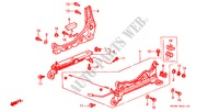 FRONT SEAT COMPONENTS (R.)(2) for Honda Cars CIVIC VTI 3 Doors full automatic 1996