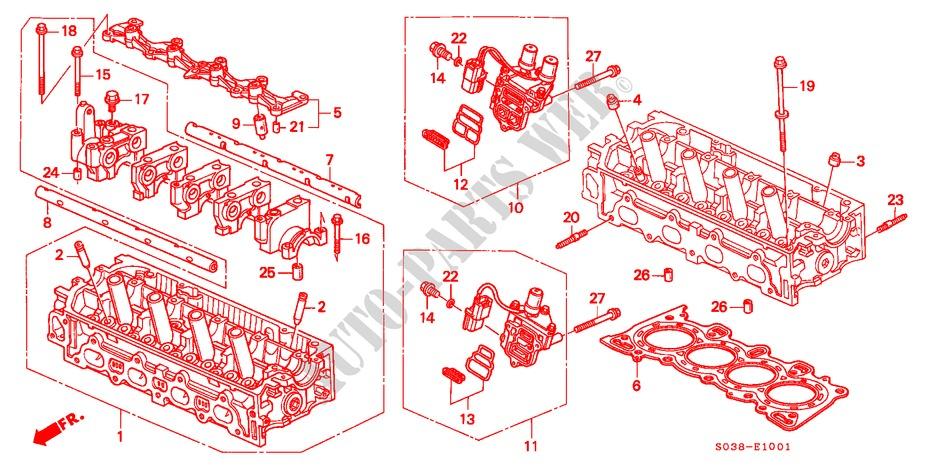Honda Cars Civic 1996 Vti Full Automatic Engine Cylinder Head Sohc Vtec: Honda Vtec Engine Diagram At Jornalmilenio.com