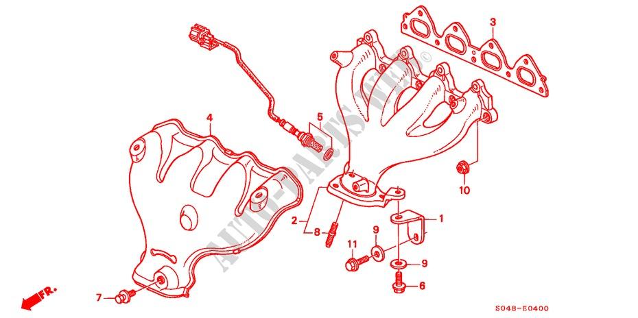 1999 Honda Civic Exhaust Diagram