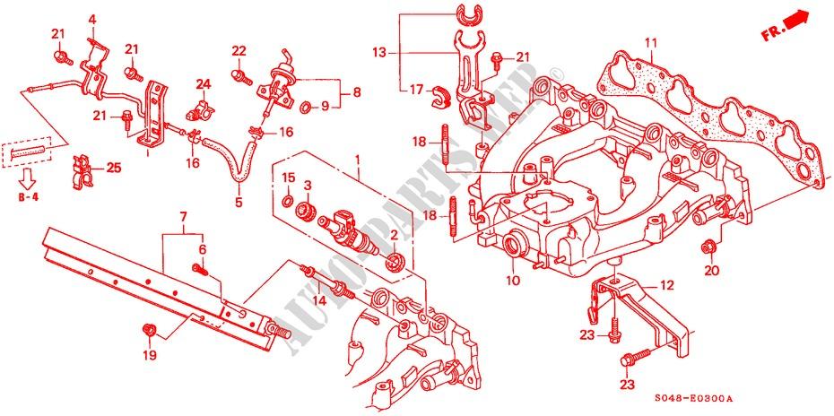 intake manifold ex exi 15l lxi engine ex 1998 civic honda cars rh parts honda uk