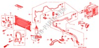 AIR CONDITIONER (HOSES/PIPES) (LH) for Honda Cars PRELUDE 2.0I 2 Doors 5 speed manual 1998