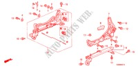 FRONT SEAT COMPONENTS (L.) (1) for Honda Cars PRELUDE 2.0I 2 Doors 5 speed manual 1998