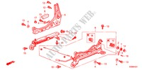 FRONT SEAT COMPONENTS (R.) (2) for Honda Cars PRELUDE TYPE-S 2 Doors 5 speed manual 2000