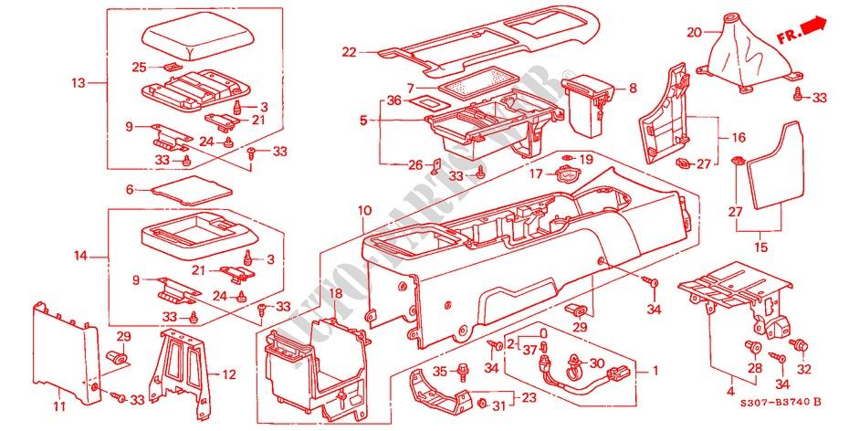 Genuine Hyundai 84795-3L000-2W Center Console Pad Garnish Assembly