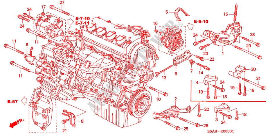 Engine Mounting Bracket Engine Exi 2001 Civic Honda Cars Honda