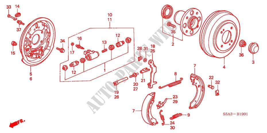 Genuine Honda 43110-SH9-013 Brake Backing Plate