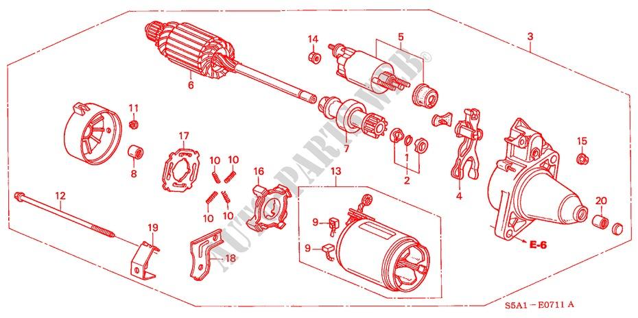 STARTER MOTOR (DENSO)(2) for Honda Cars CIVIC VTI-D 4 Doors