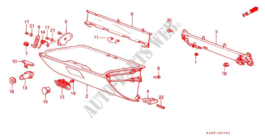Honda Genuine 66444-SA5-000 Glove Box Holder