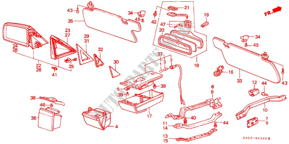 Toyota 74102-22040-06 Ash Receptacle Assembly