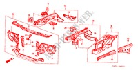 BODY STRUCTURE COMPONENTS (1) for Honda Cars ACCORD STD 4 Doors 5 speed manual 1985