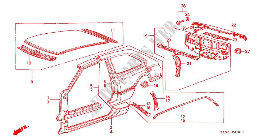 Honda Genuine 80315-SA5-320ZZ Tailgate Lock Support