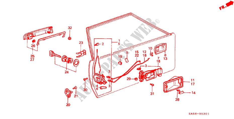 Genuine Honda 75565-SA5-013 Handle Rod