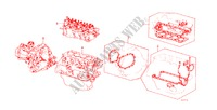 GASKET KIT/ TRANSMISSION ASSY. for Honda Cars CIVIC STD 1200 4 Doors 3 speed automatic 1982