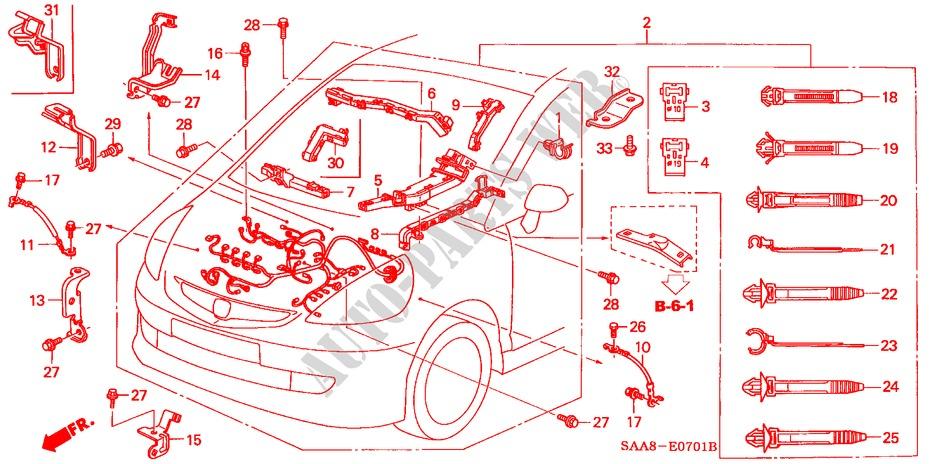 Engine Wire Harness Vti S 2005 Jazz Honda Cars. Honda Cars Jazz 2005 Vtis Full Automatic Engine Wire Harness. Honda. Honda Engine Wiring Diagram 2005 At Scoala.co